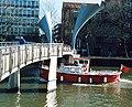 Ferry under the Pero Bridge in Bristol (2213226060).jpg