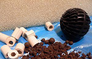 Filter (aquarium) - Sponges, plastic balls, ceramic tubes and gravel are all suitable for aquarium filtration