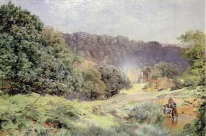 Reginald of Durham - Alfred William Hunt, 1861: the ruins of Finchale Priory founded on the site of the hermitage of St Godric on the banks of the River Wear