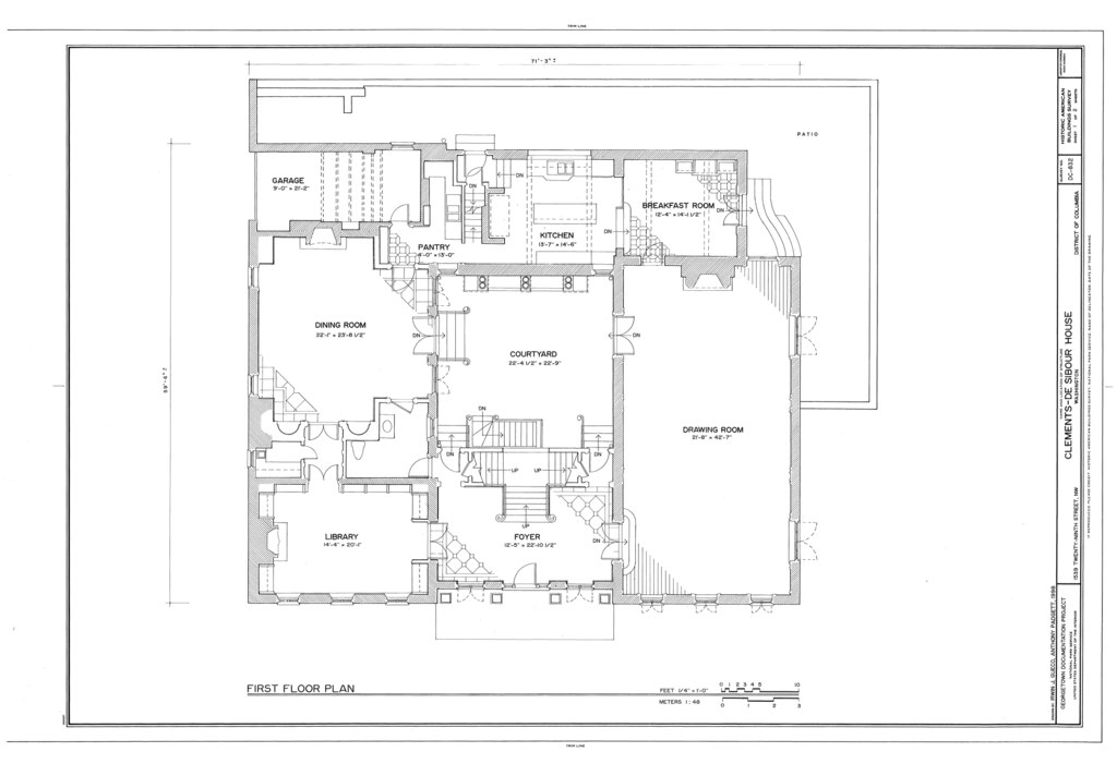 File first floor plan clements de sibour house 1539 for Geothermal house plans