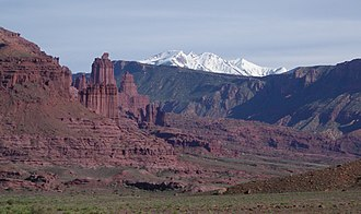 Fisher Towers - Image: Fisher Towers from distant north