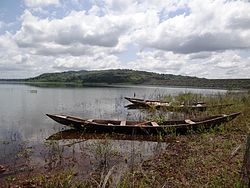 Fishers boats on Lake Kossou near Kousso in Côte d'Ivoire (3).JPG