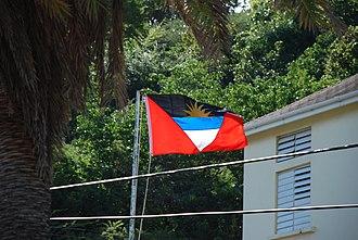 Fair Antigua, We Salute Thee - Image: Flag A and B photo