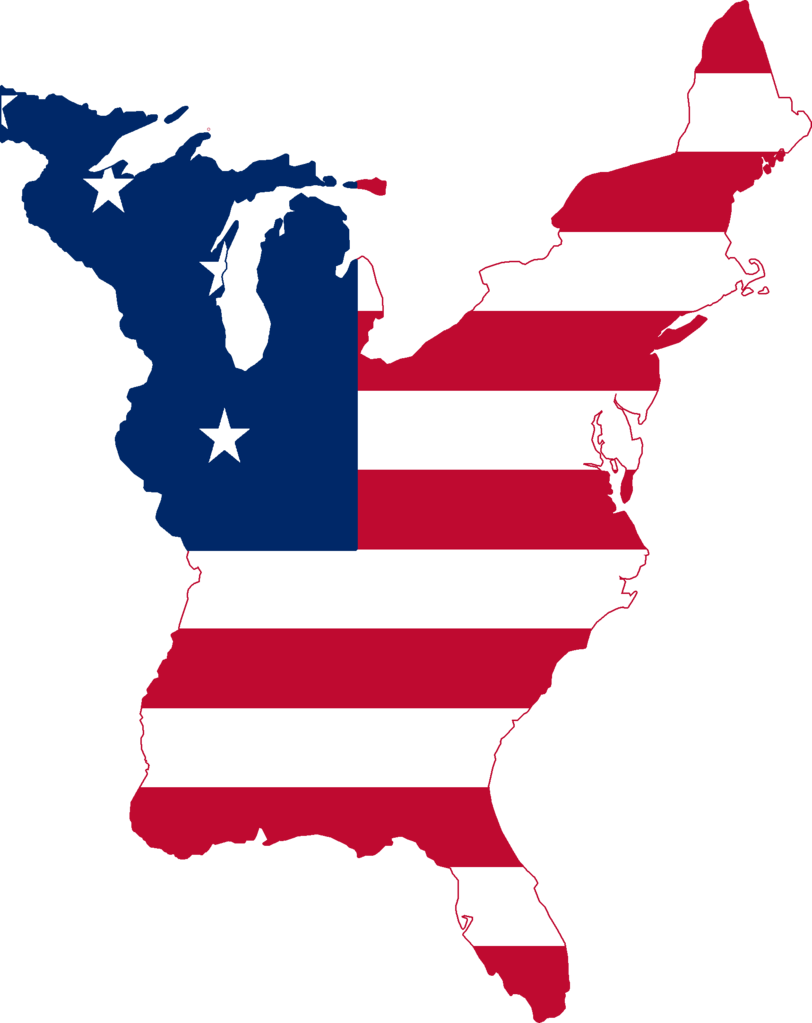 FileFlag Map of the United States 1789png