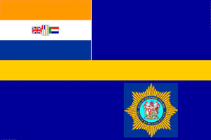 Craig Williamson - Image: Flag of the South African Police (1981–1994)
