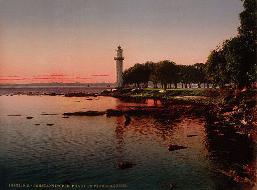 Flickr - …trialsanderrors - The lighthouse of Fenerbahçe, Constantinople, Turkey, ca. 1899