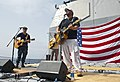 Flickr - Official U.S. Navy Imagery - CO of USS Cape St. George performs with country music singer Toby Keith during a USO performance..jpg