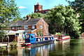 Flickr - ronsaunders47 - LEEDS-LIVERPOOL CANAL @ LEIGH.BACK GARDEN MOORINGS..jpg
