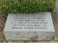 Flint River Hospital flagpole marker.JPG
