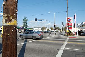 1992 Los Angeles riots - Looking northeast from the southwestern corner of Florence and Normandie, in March 2010