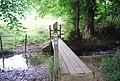 Footbridge in Forge Wood - geograph.org.uk - 1492466.jpg