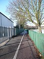 Footpath running between the Queen Elizabeth School buildings and its playing fields - geograph.org.uk - 1147422.jpg