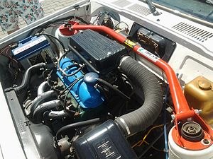 Ford Kent engine - Valencia 1100 engine with RS Twin Weber DCNF conversion in a Mk1 Fiesta