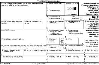 Form 1099-R - Form 1099-R, 2015