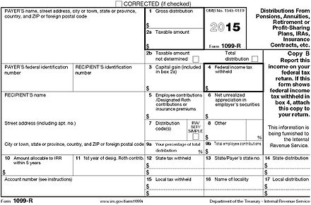 Form 1099 R Wikiwand