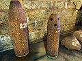 Fort de Douaumont, 220mm shell and fire grenate.JPG