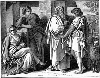 Vayetze - Jacob Talks with Laban (illustration from the 1897 Bible Pictures and What They Teach Us by Charles Foster)