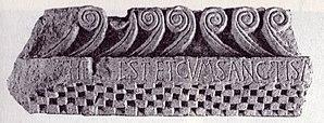Croatian checkerboard - Fragment from the church of St. John of Nimfa