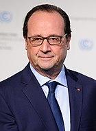 head shot of François Hollande with blue tie