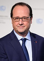 head shot of François Hollande with blue tie