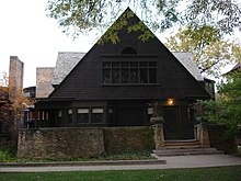 Wright's home in Oak Park, Illinois