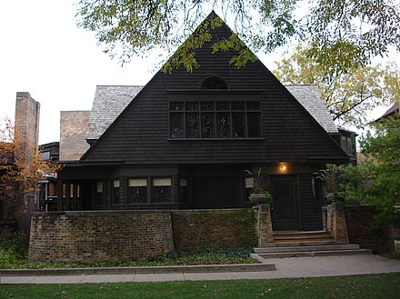 Wright's home in Oak Park, Illinois (1889)