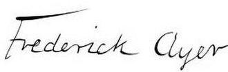 Frederick Ayer - Image: Frederick Ayer (signature)