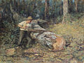 Frederick McCubbin - Sawing Timber, 1907.jpg