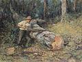 Frederick McCubbin - Sawing Timber, 1907.jpg