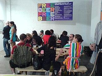Free Beer - Image: Free Beer Art Basel Miami
