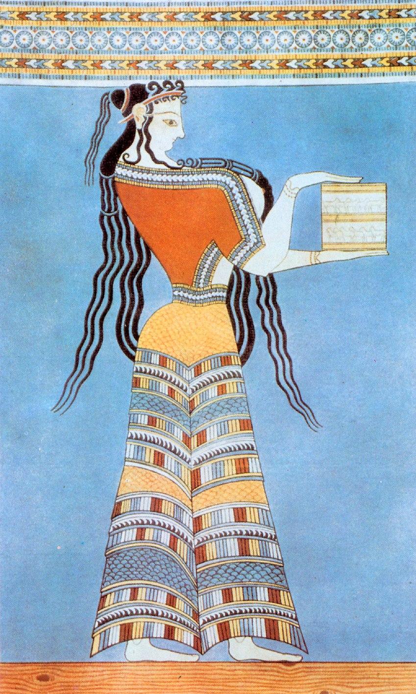 Fresco of a Mycenaean woman, circa 1300 BC