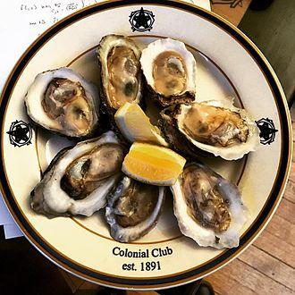 Colonial Club - Fresh oysters prepared by Chef Ramirez at Colonial Club