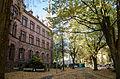 Friedrich-Gymnasium Freiburg (im Breisgau) Vorderfront (Turm) 02.jpg