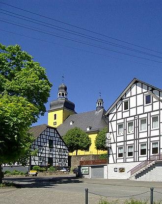 Friesenhagen - St.Sebastianus church in the center of Friesenhagen