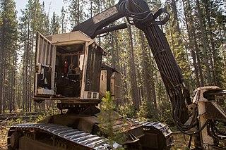 Feller buncher Type of harvester used in logging