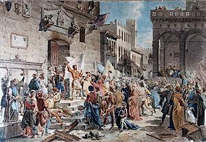 Ciompi Revolt - Il tumulto dei ciompi by Giuseppe Lorenzo Gatteri (1829-1844)