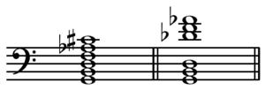 Polychord - Image: G7(sharp 11b 9) vs Db over G chord