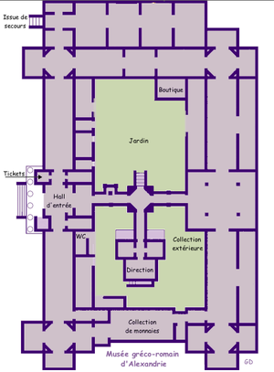 Graeco-Roman Museum - Floor plan of the museum