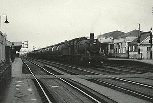 Oxford railway station - A GWR 2-8-0 at oxford in 1965