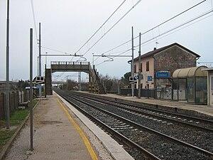 Venice–Trieste railway - Gaggio station on the Venice–Trieste railway in 2008