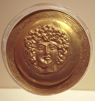 Celtic settlement of Eastern Europe - A Galatian's head as depicted on a gold Thracian objet d'art, 3rd century BCE.