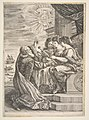 Galileo and personifications of Astronomy, Perspective and Mathematics, frontispiece for 'Opere di Galileo Galilei' MET DP818079.jpg