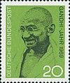 Timbre allemand de Gandhi