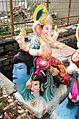 Ganesh Chaturthi Images - A large Ganesh Murti on display at a road side idol shop.jpg