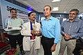 Gaurav Gupta Receiving Memento from Dileep Basumazumder after Delivering lecture - Shoulder Injuries in Sports - SPORTSMEDCON 2019 - SSKM Hospital - Kolkata 2019-03-17 3708.JPG