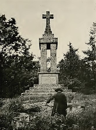 Guy's Cliffe - The 1821 Gaveston monument at Blacklow Hill.