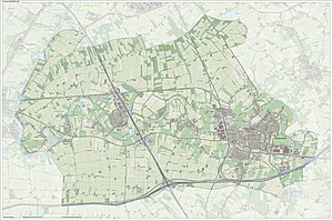 Geldermalsen - Dutch topographic map of the municipality of Geldermalsen, June 2015
