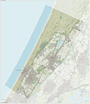 Noordwijk - Dutch Topographic map of Noordwijk, June 2015