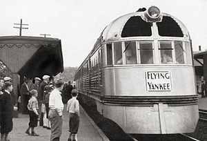 Flying Yankee - Image: General Electric Flying Yankee advertisement, February 1938, train only