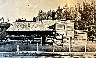 Genoa, Nevada - Nevada's first permanent building, Genoa trading post, established 1850